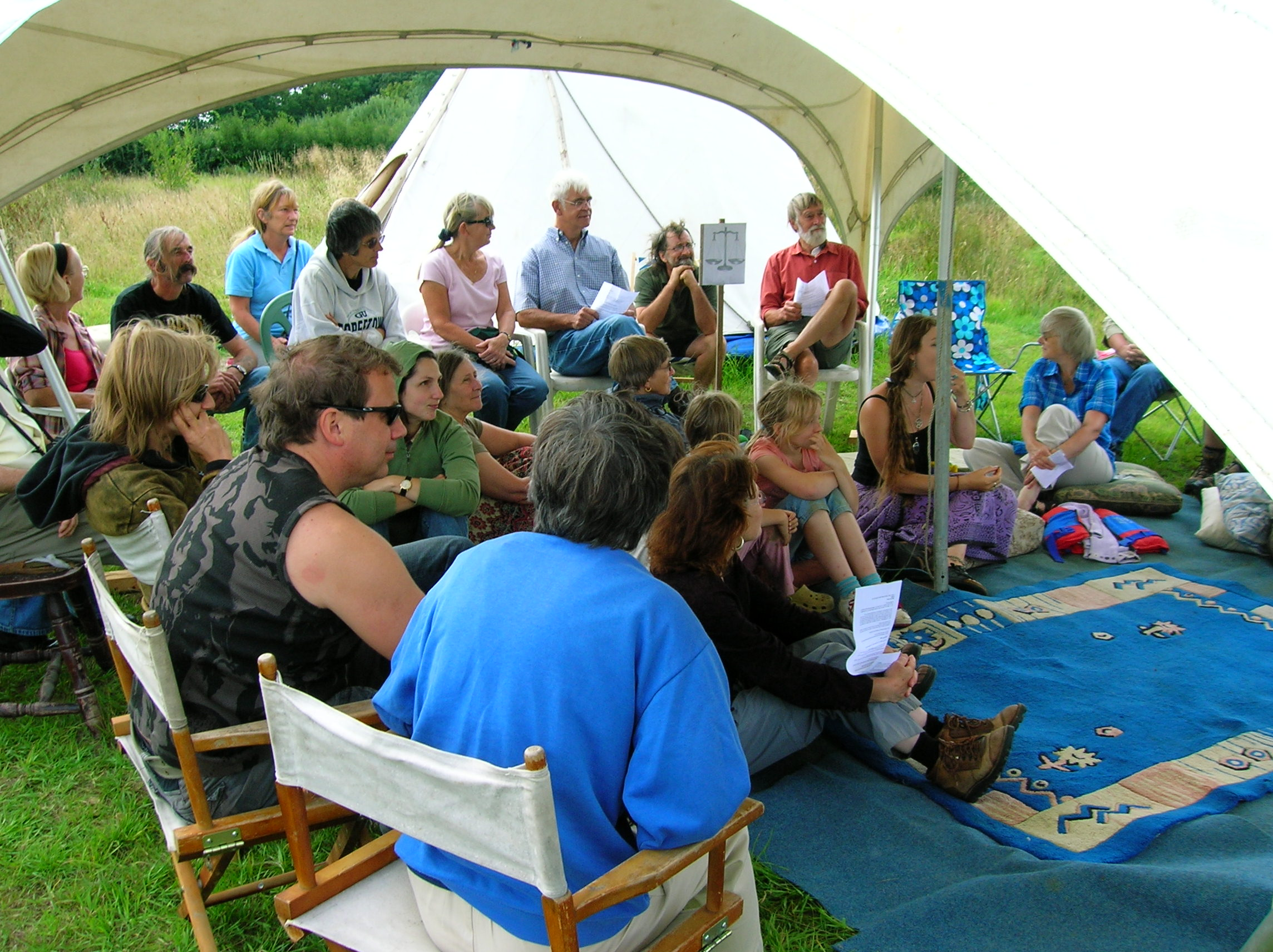 Audience at Permaculture afternoon